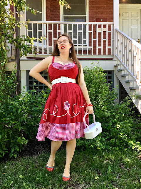 Trashy Diva red gingham picnic Lena dress