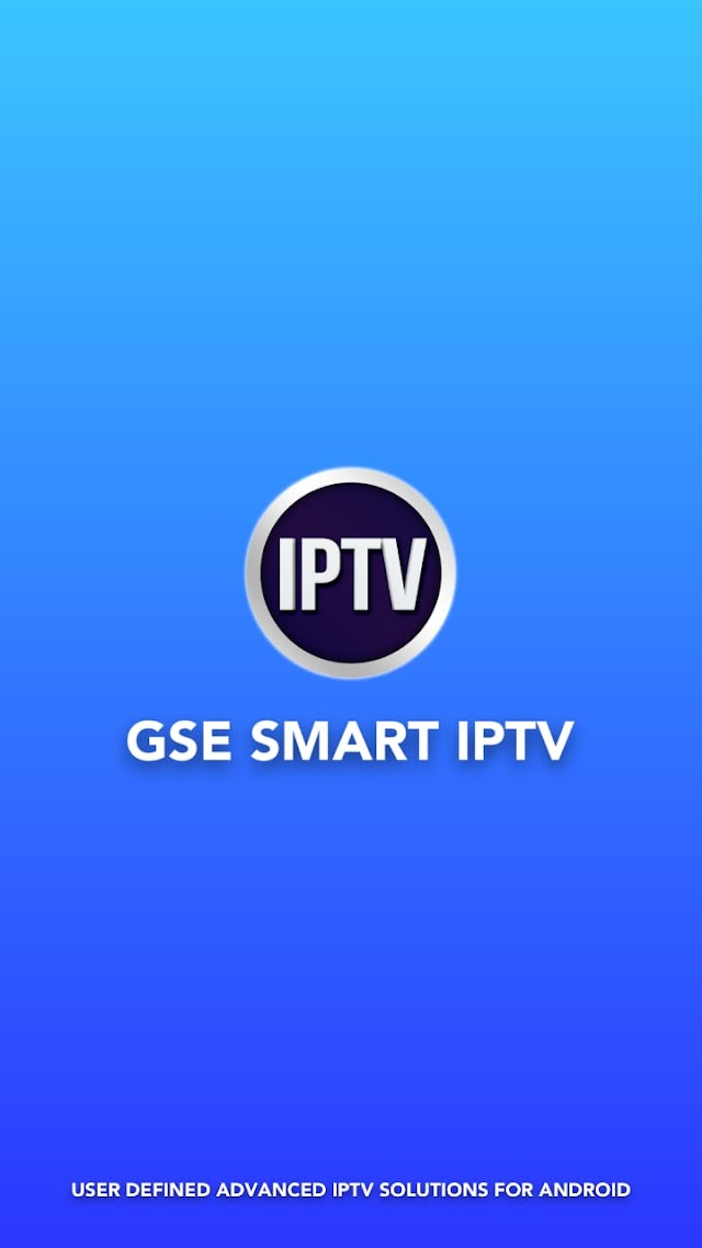 GSE Smart IPTV APK Reproductor Lista IPTV