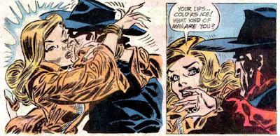 The Shadow #7, Morag Mayne kisses the Shadow