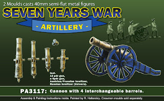 Seven Years War Artillery Cannon mould from Prince August