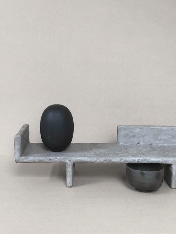 3 brutalist altar trays by X + L