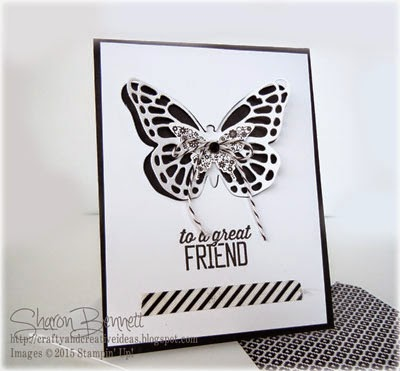 Stampin Up Simply Wonderful Butterfly Thinlits Card