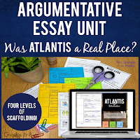 Middle School direct instruction for writing argumentative essays in printable and digital formats!