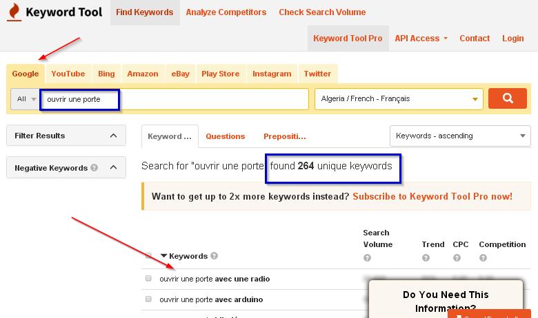 boosting web traffic with keywords