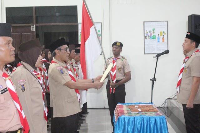 Rooswandi Salem Kukuhkan Sejumlah pengurus Satuan Karya (SAKA) Tingkat Cabang