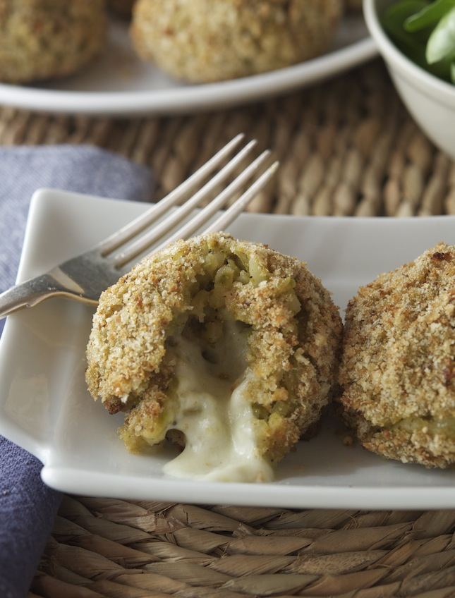 Baked Green Rice Balls