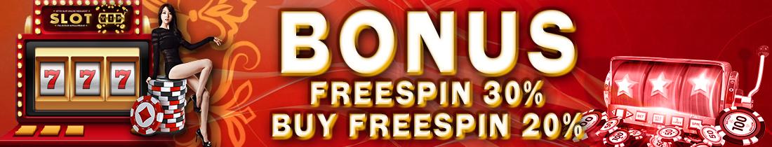 Event SlotVip - Bonus Freespin Murni 30% & Buy Freespin 20%