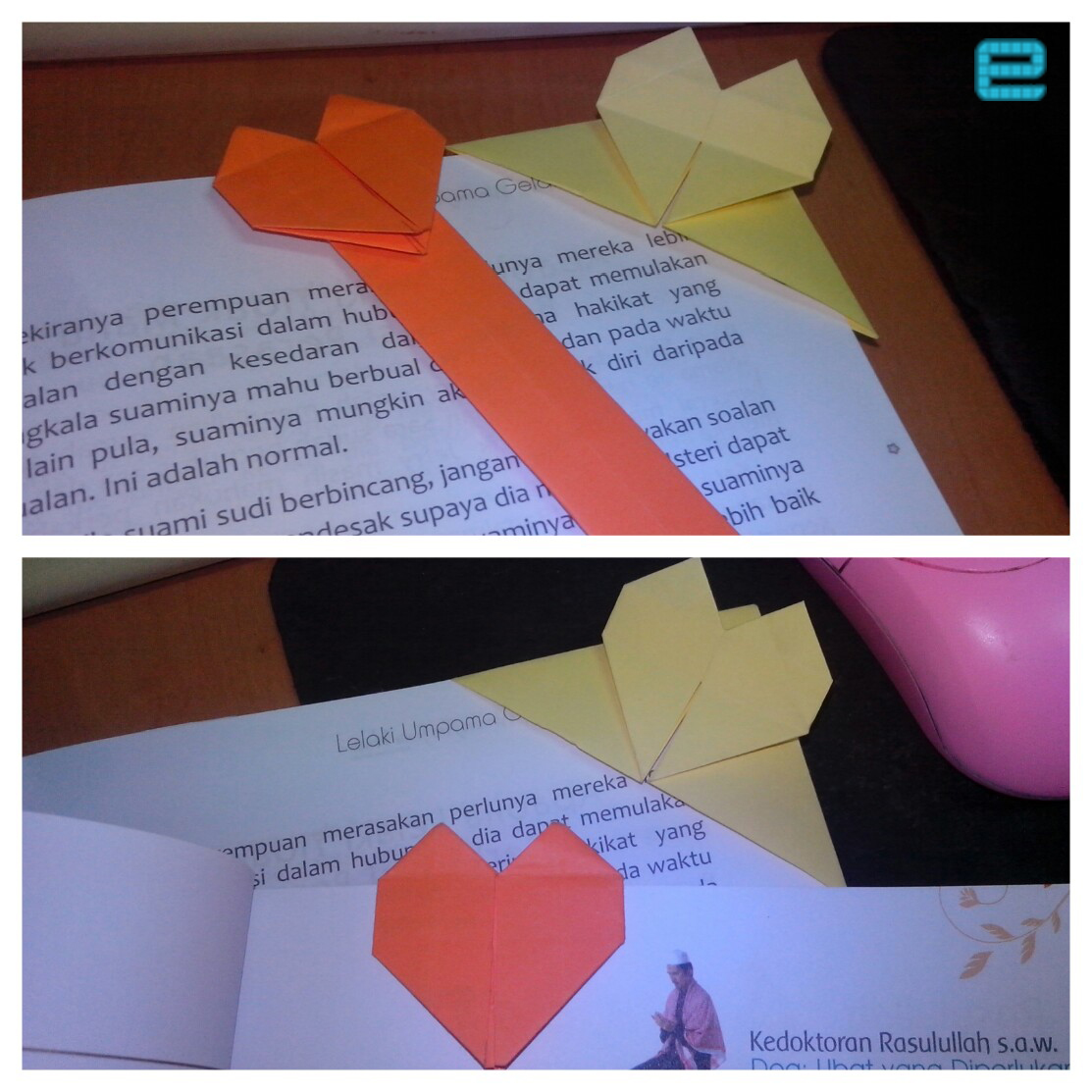 Berkreatif Dengan Origami Penanda Buku
