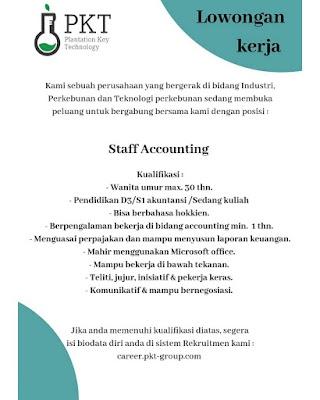 Staff Accounting di PT Propadu Konair Tarahubun
