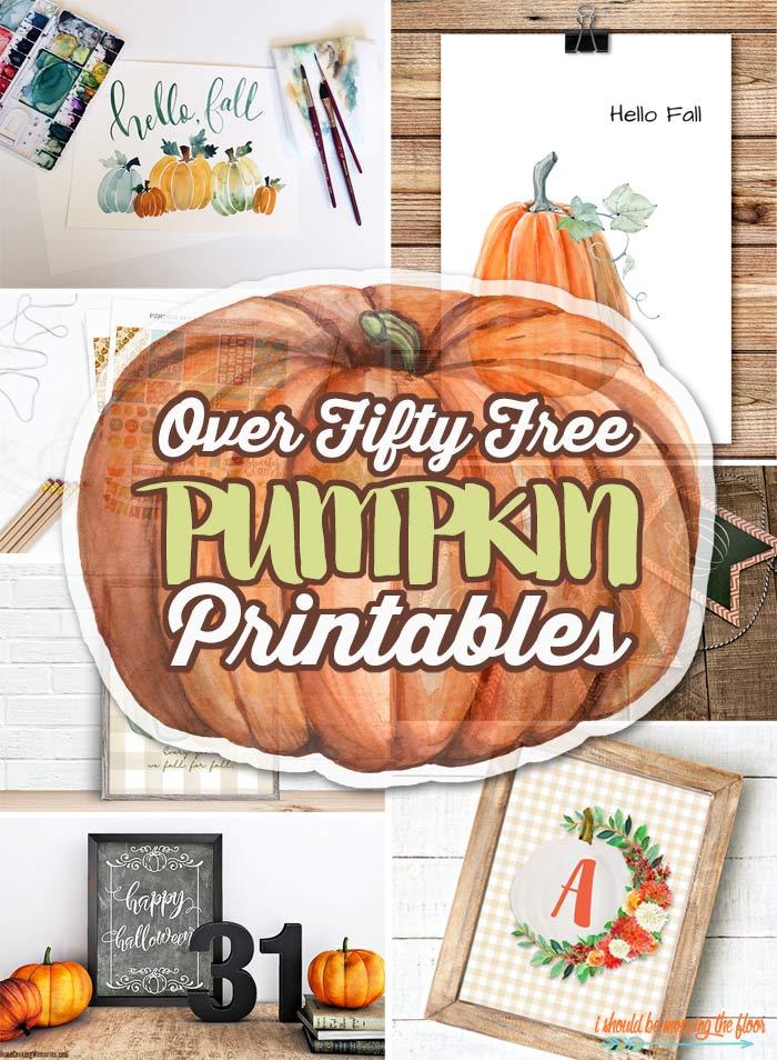 50 Free Pumpkin Printables