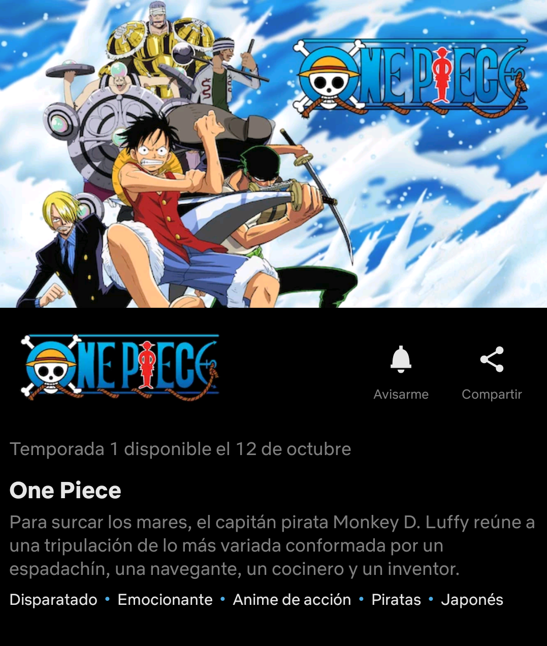 One Piece llegará a Netflix en octubre - ANMTV