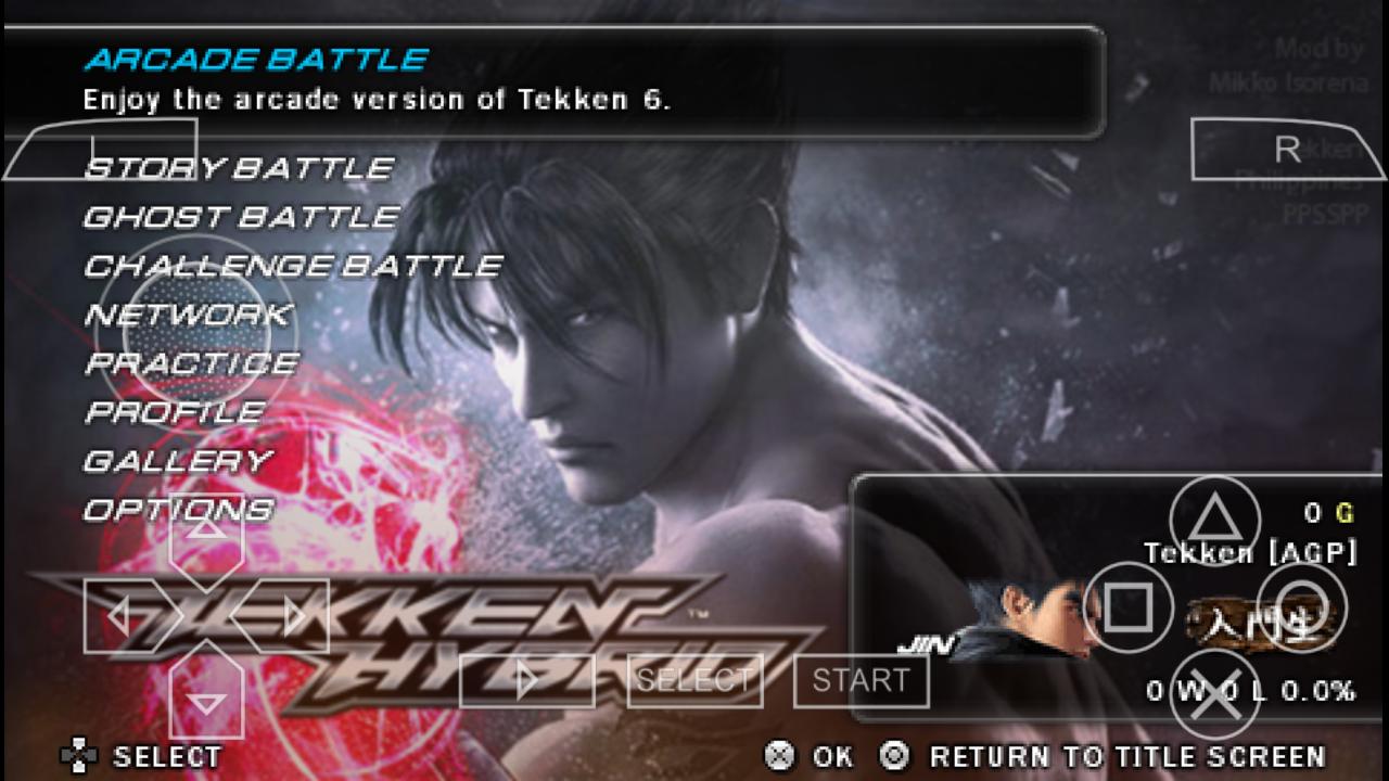 Tekken 6 Android 259 Mb 75 Mb Psp File Graphic Mod