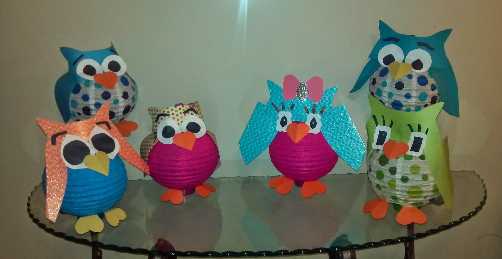 My Version Of The Paper Lantern Owls