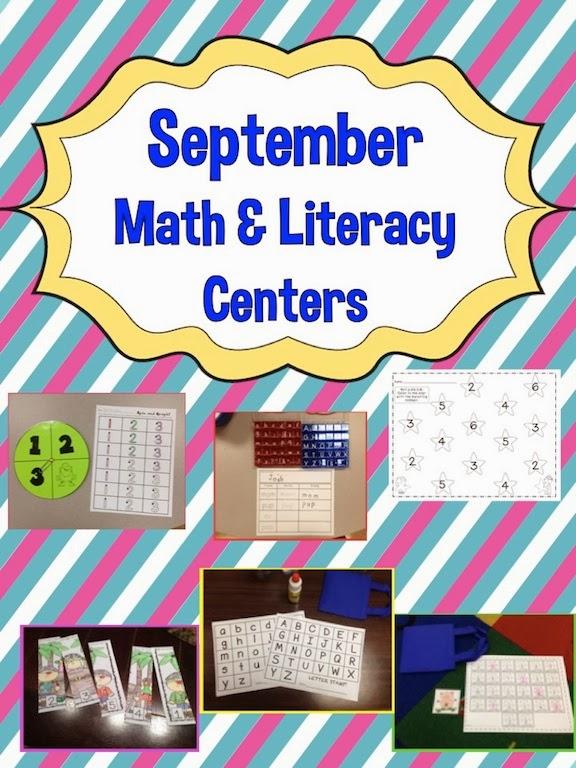 September Math & Literacy Centers!