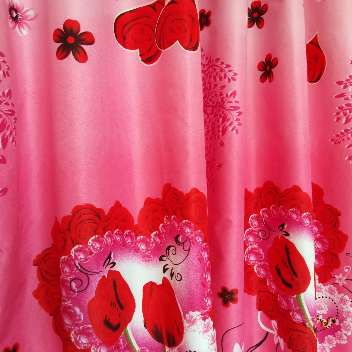 Gorden Pintu Rumah Motif Dhanista Model Smokring 12 Ring Ukuran Panjang Murah Elegan