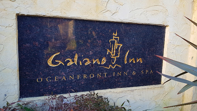 The main sign at the Galiano Inn greets visitors...