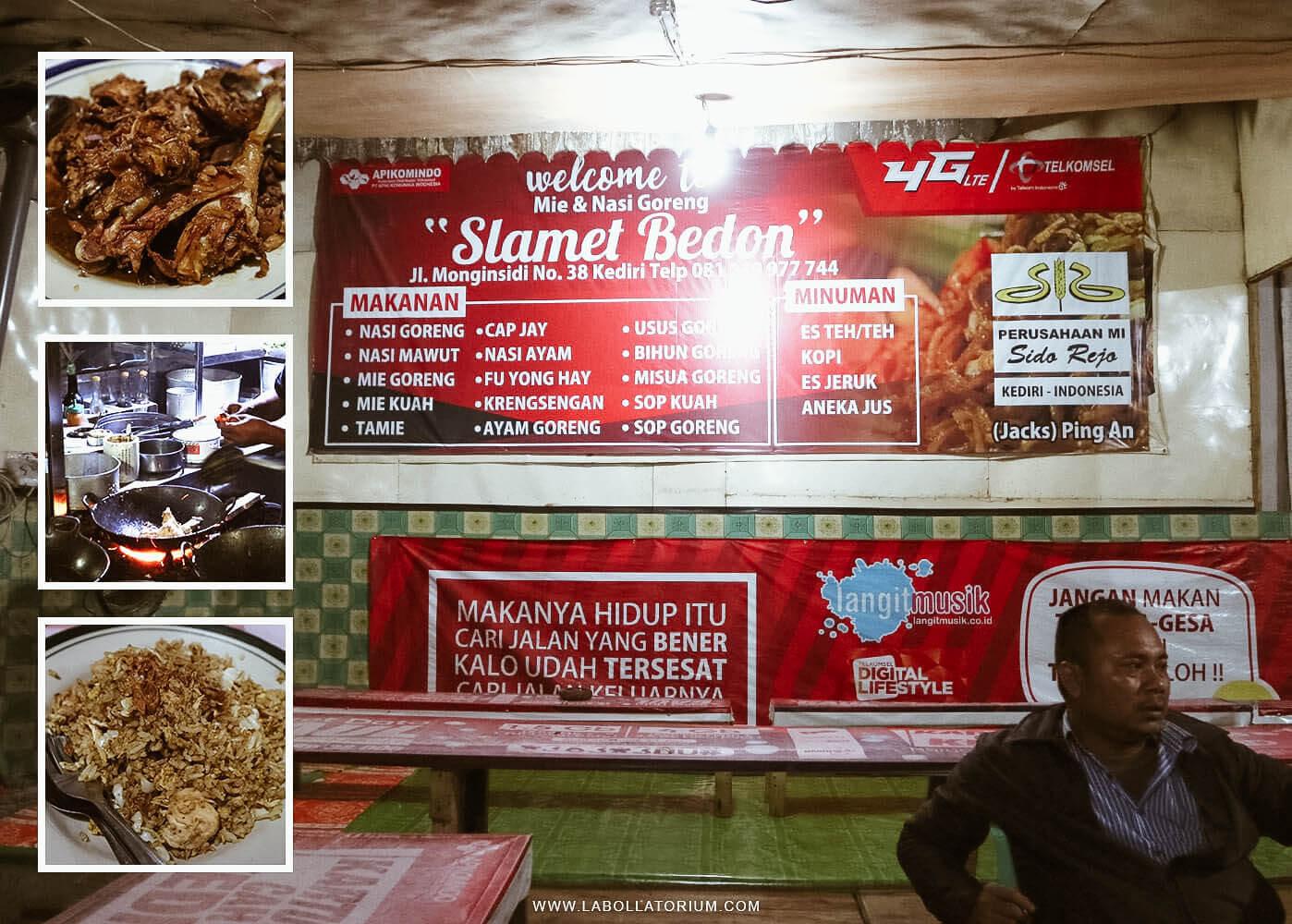 Mie dan Nasi Goreng Slamet Bedon Kediri - 7 Tempat Recommended Saat Explore Kediri Circa 2017
