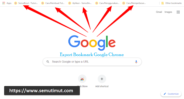 cara export bookmark google chrome