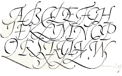 Fancy Calligraphy Alphabet Calligraphic Is A Fairly Straightforward Simple Font That Was Based On The 6th Grade Curriculum Book From Bob