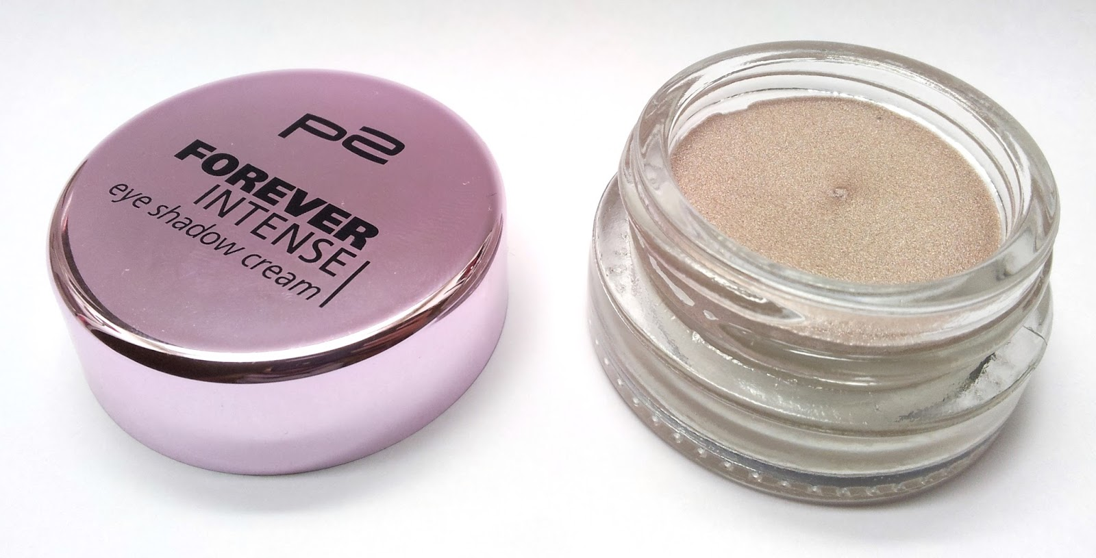 p2: Forever intense eye shadow cream 050 just can't wait