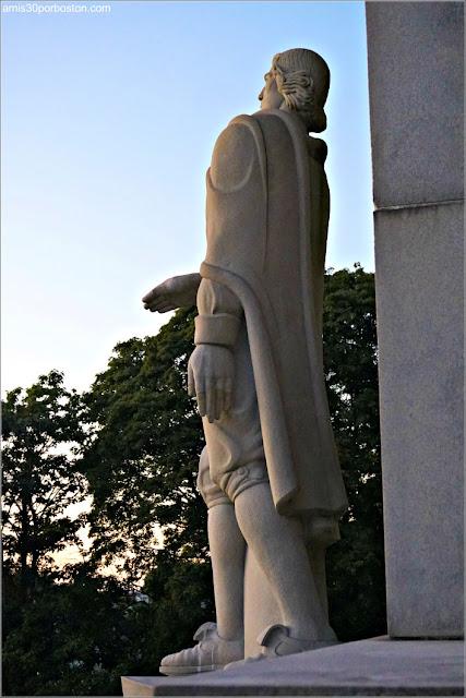 Monumento a Roger Williams en Prospect Terrace Park en Providence