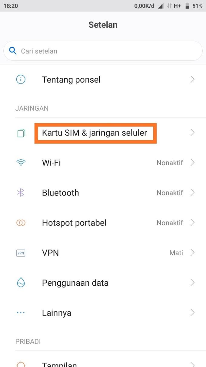 Cara membuat APN baru di hp Xiaomi