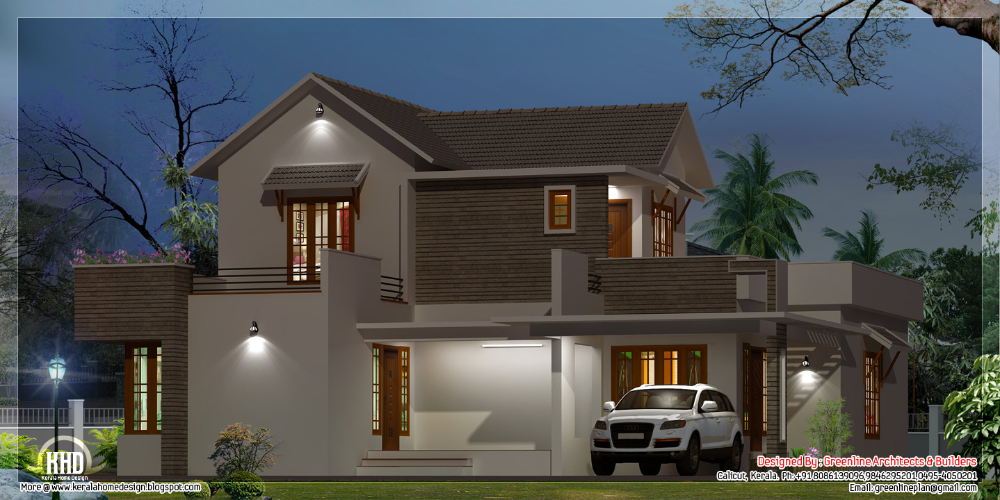 Beautiful modern kerala home design kerala home design for Modern house design