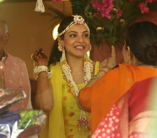 Kajal Aggarwal Haldi Ceremony Latest Photos