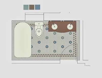 denah kamar mandi 2 wastafle | desain rumah terbaru
