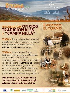 """Recreación de oficios tradicionales y """"Campanillá"""". 8 de diciembre en El Torno"""