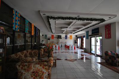 Lobby of Palermo hotel Baybay, Leyte