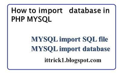 mysql import sql file | mysql import database