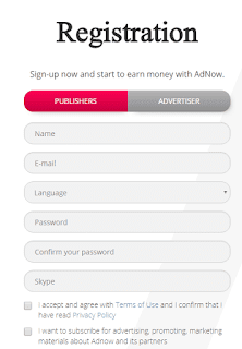 Adnow - Sign Up