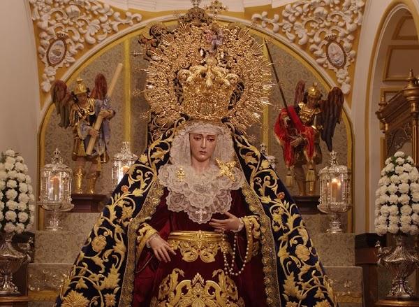 Horario e Itinerario Rosario de la Aurora de María Santísima de Lágrimas y Favores. Málaga 03 de Octubre del 2021