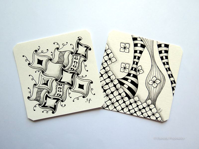 przykłady Zentangle