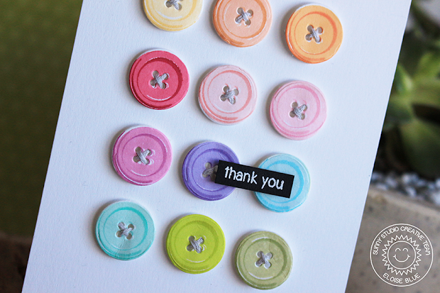 Sunny Studio Stamps: Cute As A Button Rainbow Card and Video by Eloise Blue