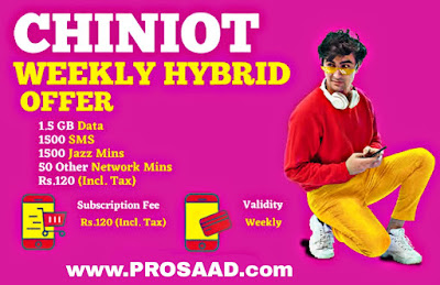 Jazz Chiniot Weekly Hybrid Offer 2021