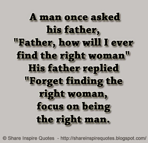 Finding the right man