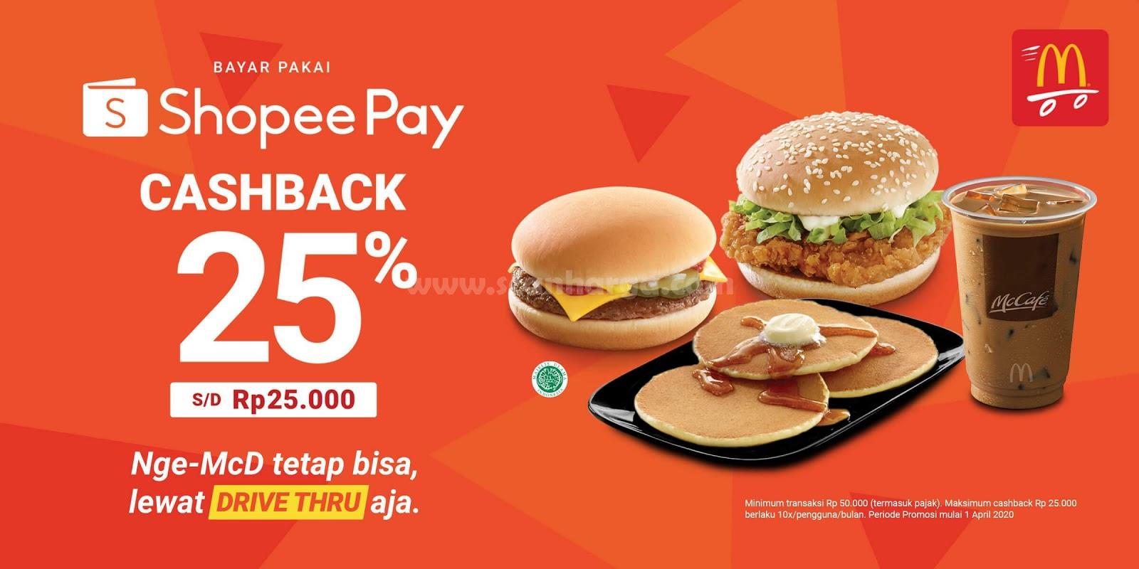 McD Promo Bayar Pakai Shopee Pay Cashback 25% Edisi Juni 2020