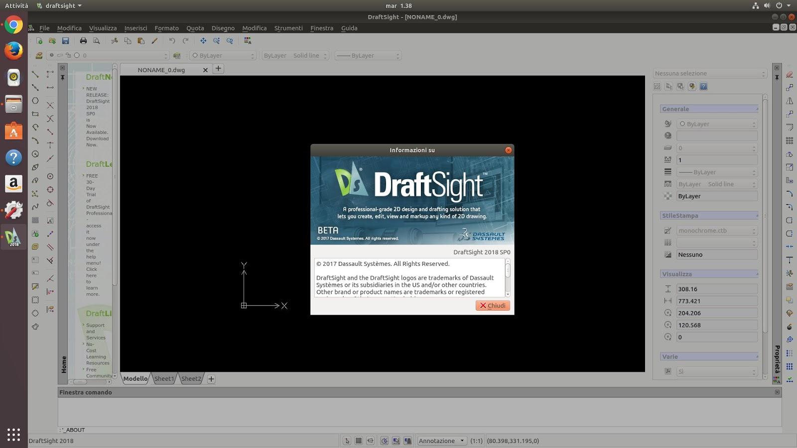 Rilasciato DraftSight 2018 SP0