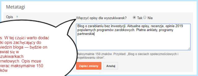 Blogger - Meta tagi.