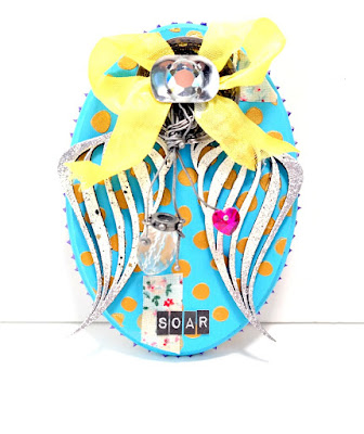 Soar Mixed Media Wings Plaque by Dana Tatar for Tando Creative