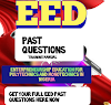 EED PAST QUESTIONS: ENTERPRENEURSHIP EDUCATION FOR POLYTECHNICS AND MONOTECHNICS IN NIGERIA