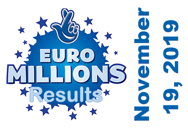 EuroMillions Results for Tuesday, November 19, 2019