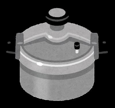 圧力釜のイラスト