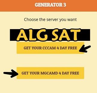 أفضل موقع للحصول على سطر سيسكام Cccam ' أربعة أيام مجانا '