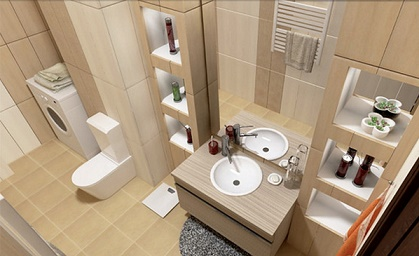 Fotos ideas para decorar casas - Estantes para banos pequenos ...