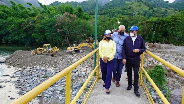 INDRHI levanta muro de gaviones en río Yuna para proteger de inundaciones a familias de Monseñor Nouel
