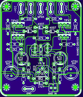 PCB Layout Power Amplifier NAMEC with DCO set