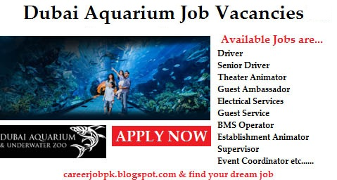 Jobs in Dubai Aquarium 2016